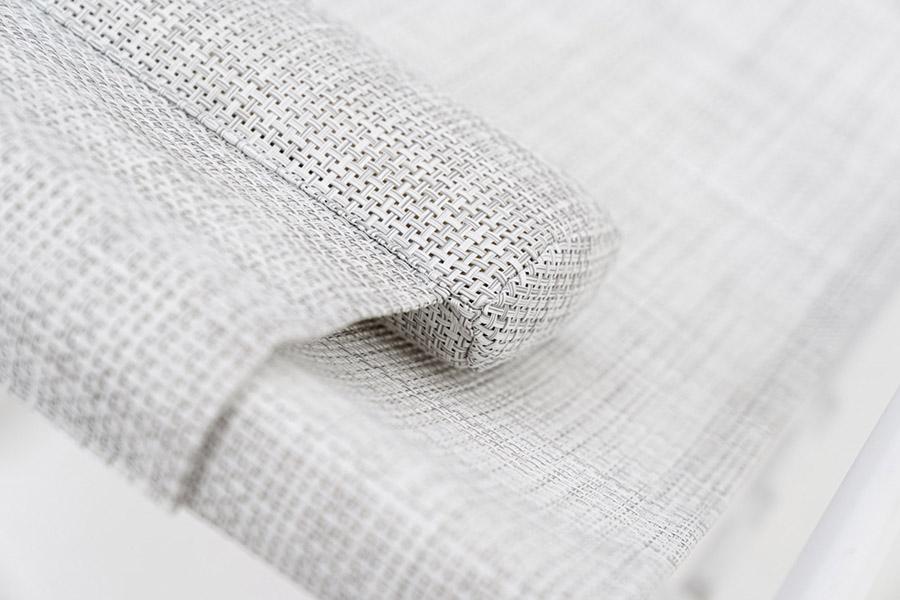 sdraio pieghevole clever in tessuto tecnico con poggiatesta integrato