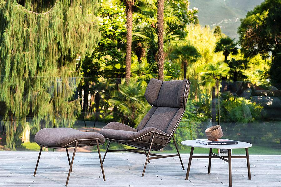 Varaschin - bergère e poggiapiedi Summer Set - Vivi l'outdoor - Relaxed