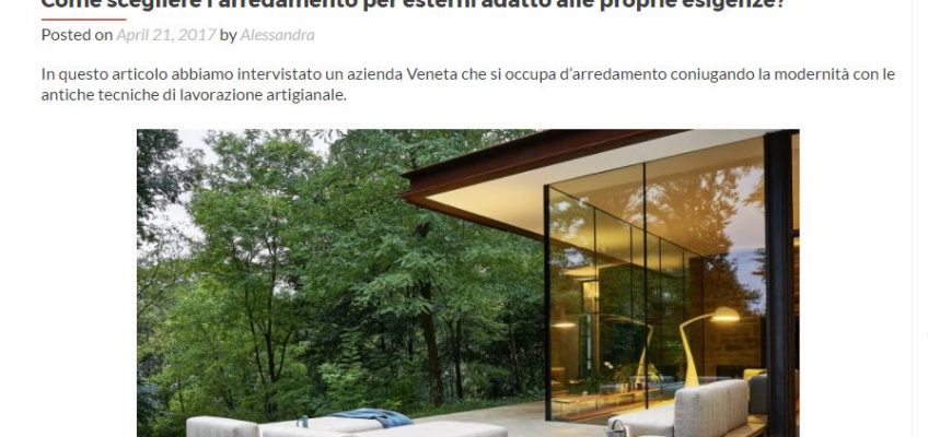 Varaschin - News - Intervista con ProntoPro Blog