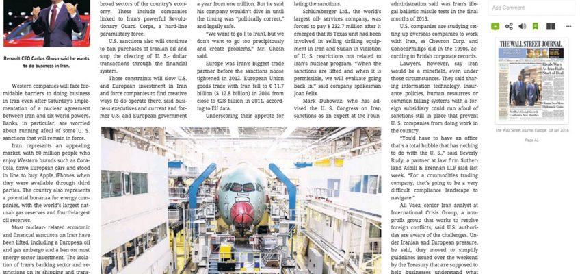 """Varaschin - News - Varaschin on """"The Wall Street Journal"""""""