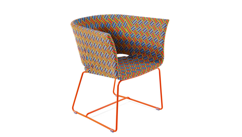 Kente Colored Lounge Armchair